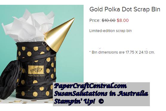 Gold Polka Dot Scrap Bin