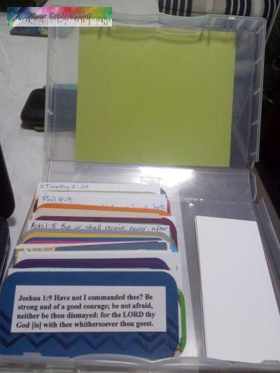 Scripture card box