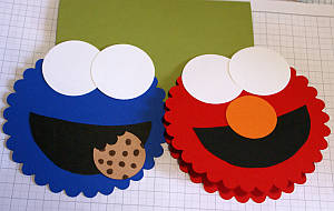 childrens birthday cards, handmade greetings, Big Shot, scallop circle die