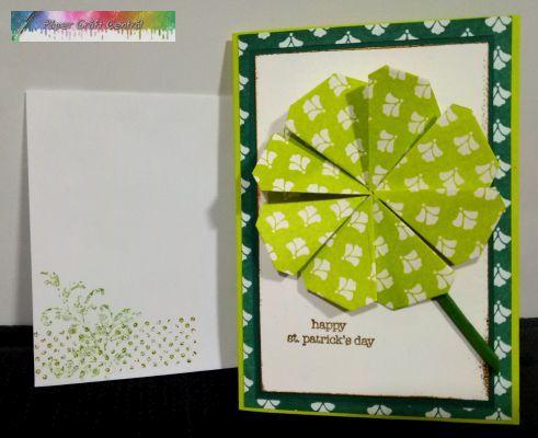 St Patricks Day Origami Shamrock