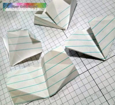 Practice paper folding with scrap paper