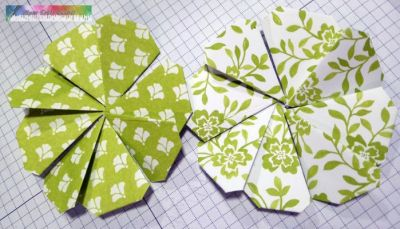 Designer series paper shamrocks