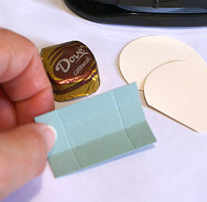 Cardstock chocolate holder