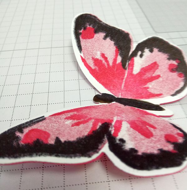 Layered butterfly stamp