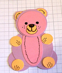 papercraft bear, teddy bear, papercraft ideas, paper punch art