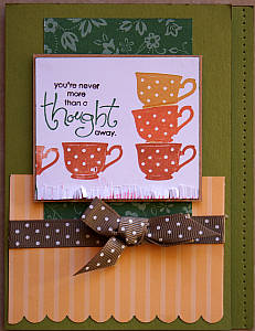 thinking of you card, handmade greeting cards, papercraft, rubber stamping