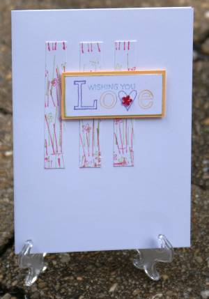 love greeting card, romantic greeting cards, stamping, papercraft