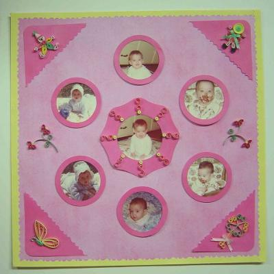 Baby Photos with Quilled Embellishments