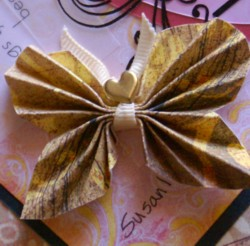 A paper butterfly