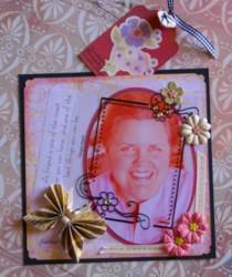 friendship scrapbook, scrapbook tags, handmade album