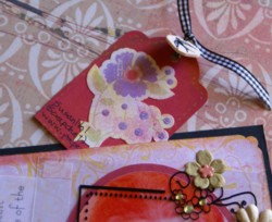 friendship scrapbook, scrapbook tags, handmade album