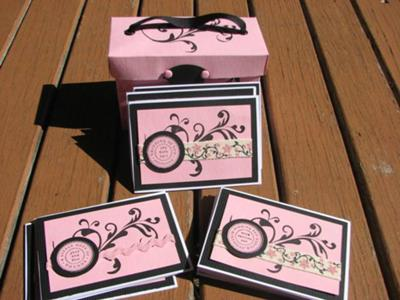 Cards in a gift box