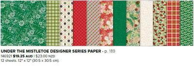 Christmas designer series paper from Stampin' Up!