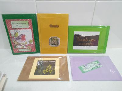 Cards for Troops donations in individual cellophane bags