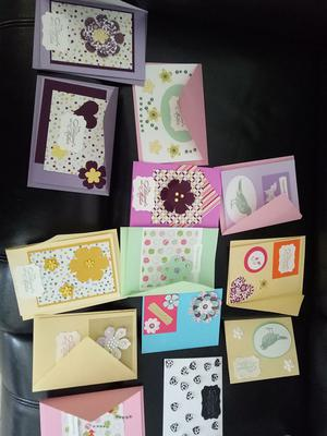 A group of cards made by crafters
