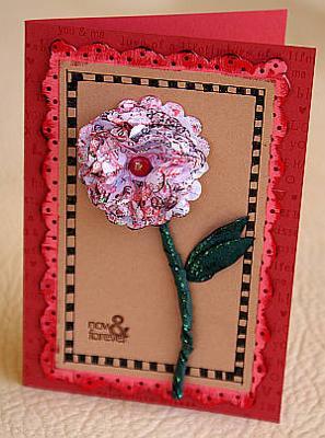 A layered flower card
