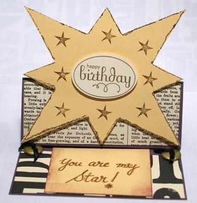 Birthday card for my boyfriend easel card showing hwo you can shape the front as you wish bookmarktalkfo Gallery