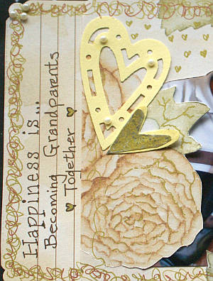 An example of a journaled scrapbook page made by Susan