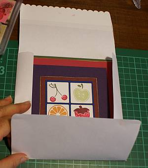 Sample of a handmade envelope for a square card