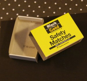 Empty matchbox