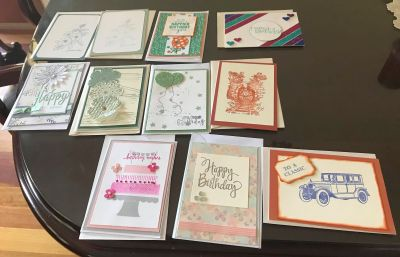 Beautiful donated cards