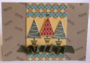Punched Christmas Tree cards