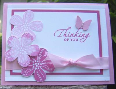 Eastern Blooms - stamped images on cardstock