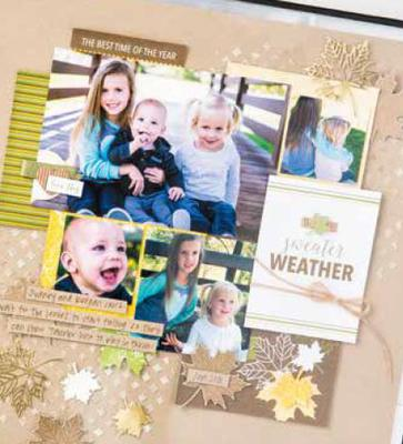 Stampin' Up! Scrapbook page using Designer Series Paper