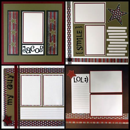 Simple Scrapbook Pages Design