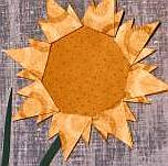 A paper sunflower
