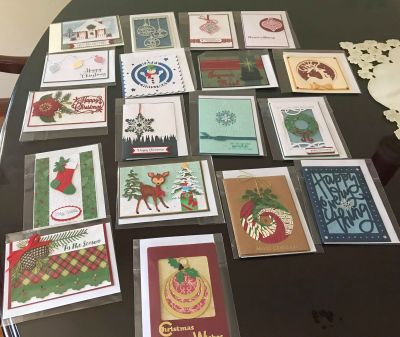 Some of the Cards for Troops sent in 2018