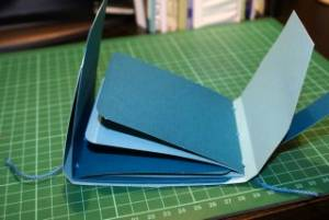 Picture of a Handmade Paper Album using cardstock with a different coloured core.