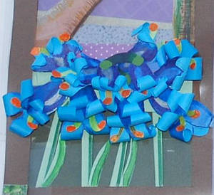 paper flower bluebells, paper craft flowers, paper flower crafts, handmade paper flowers, papercraft