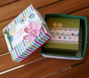 Handmade notecards in a box
