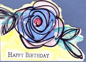 crayon resist, cardmaking techniques, handmade greeting cards