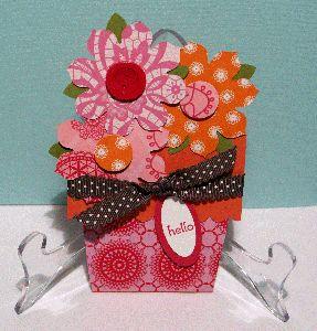 get well card, handmade greeting, paper flower, papercraft