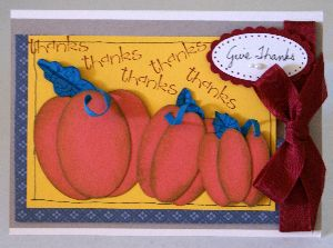 Thanksgiving art projects, pumpkin card, handmade greeting, papercraft