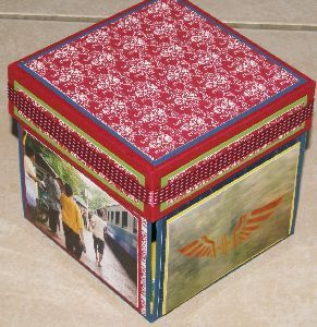 Decorated explosion box