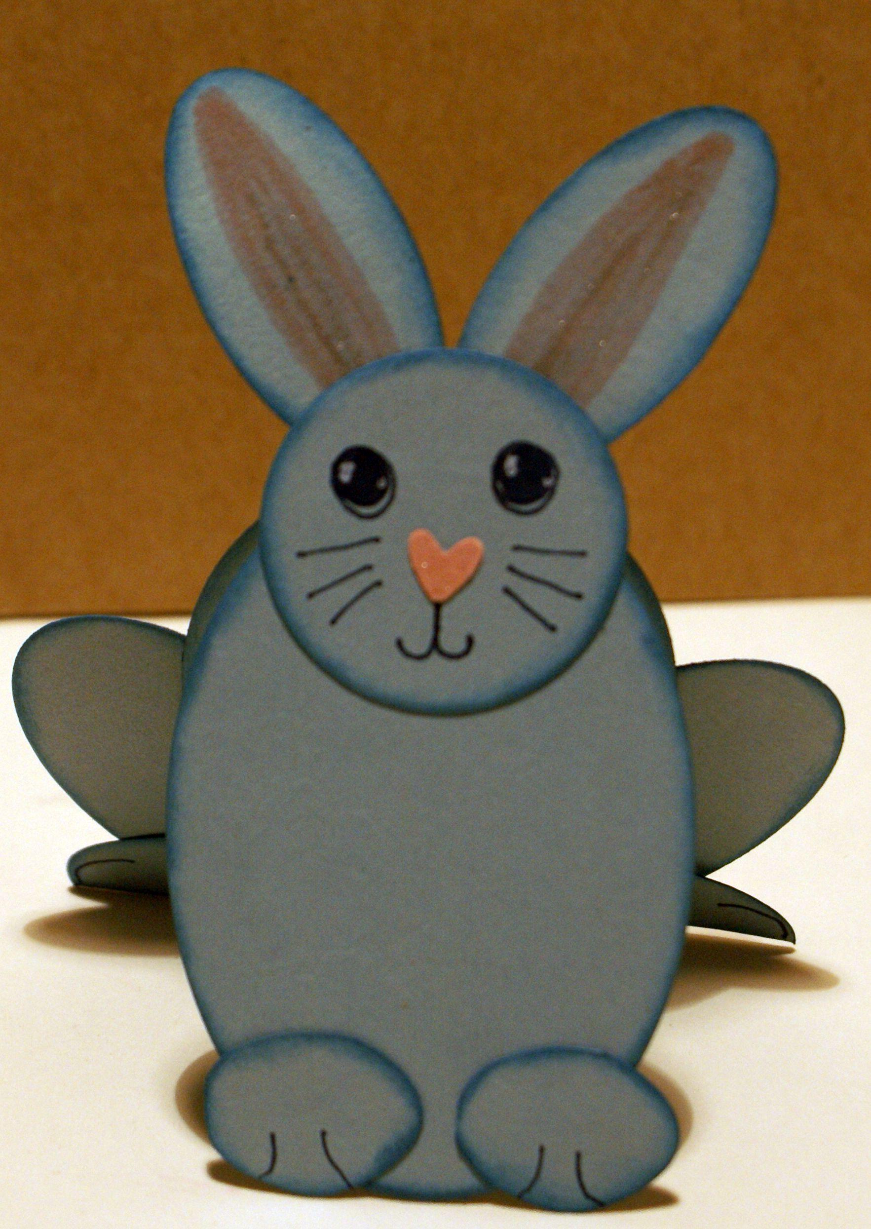 Punch art paper bunny closeup.