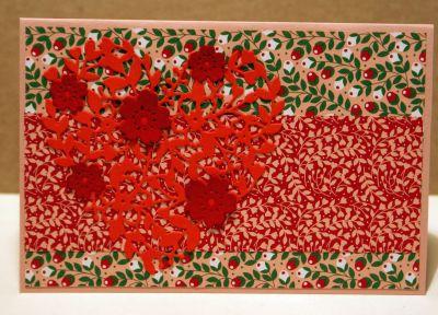 Heart dies cuts on a handmade Easter card
