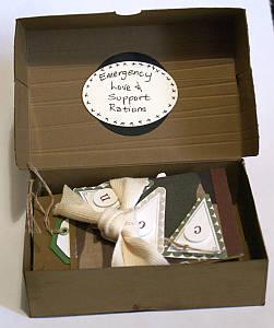 Inside the custom made paper box