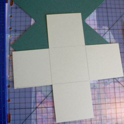 Cardstock layers for explosion box