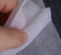 faux silk card technique