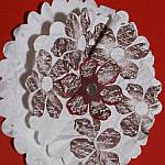 Faux Suede paper flowers