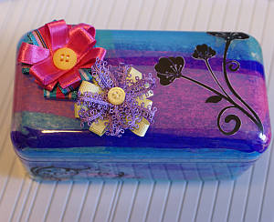 tissue paper craft, altered art, gift box, recyclable