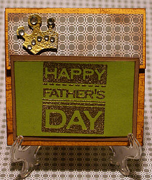 fathers day, handmade greeting, stamping, masculine