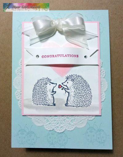 Cute Hedgehog wedding card.