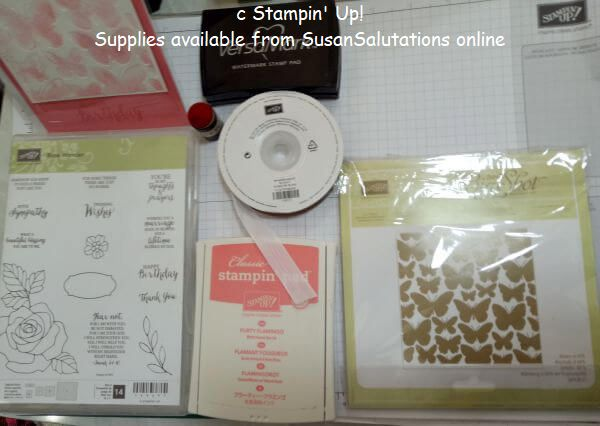 Stampin' Up! supplies for debossed card