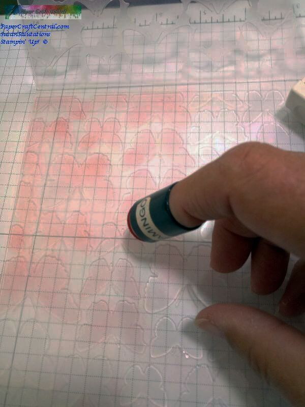 Inking embossing folder with ink dauber