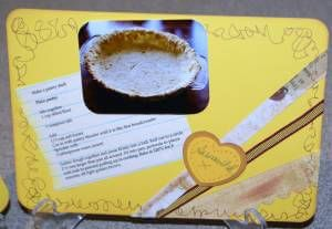 lemon meringue pie, recipe cards, index cards, personalized cards